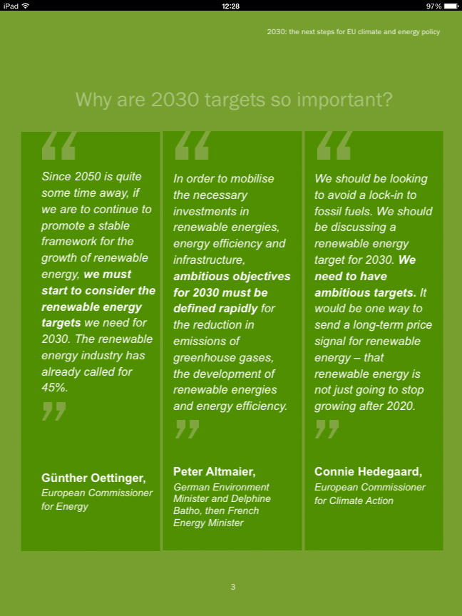 2030 targets